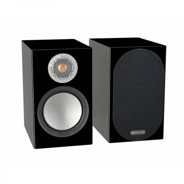 monitor audio silver 100 black gloss